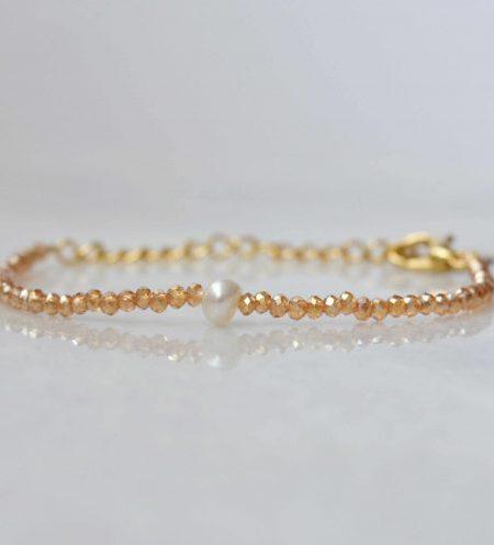 """BRACELET LITTLE SWEETPEARL """" BOHEMIAN MOOD"""" - Bracelet perles d'eau douce et bohème"""