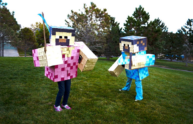 15 coolest diy halloween girls costumes minecraft for girls from maydae solutioingenieria Images
