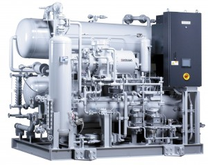 Newton ammonia carbon dioxide chiller system, low ammonia charge, CO2 secondary refrigerant