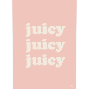 Poster JUICY, collection SUNNY, création MAYEKO DESIGN