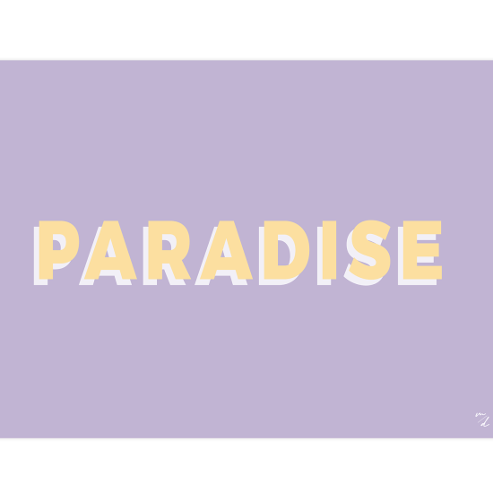 Poster PARADISE, collection SUNNY, création MAYEKO DESIGN