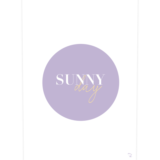 Poster SUNNY DAY, collection SUNNY, création MAYEKO DESIGN