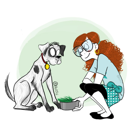 côté pro - chien gamelle max manger herbe