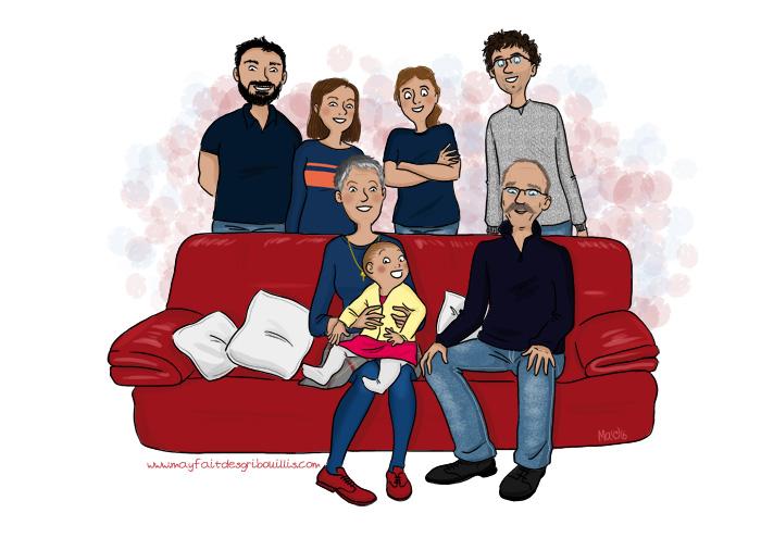 Illustration Personnalisée - ©MaYFaitDesGribouillis - Pour en voir plus : www.mayfaitdesgribouillis.com