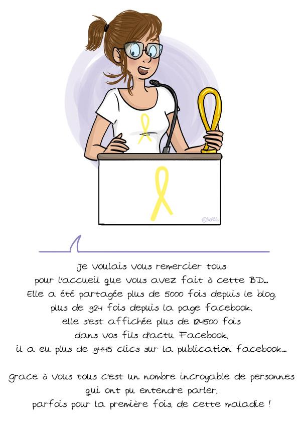Merci, endométriose - © MaY Fait Des Gribouillis 2017 - Pour en voir plus : www.mayfaitdesgribouillis.com