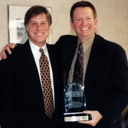 Dr. Tom Saul, right, with Jeffrey Loboski, MD,