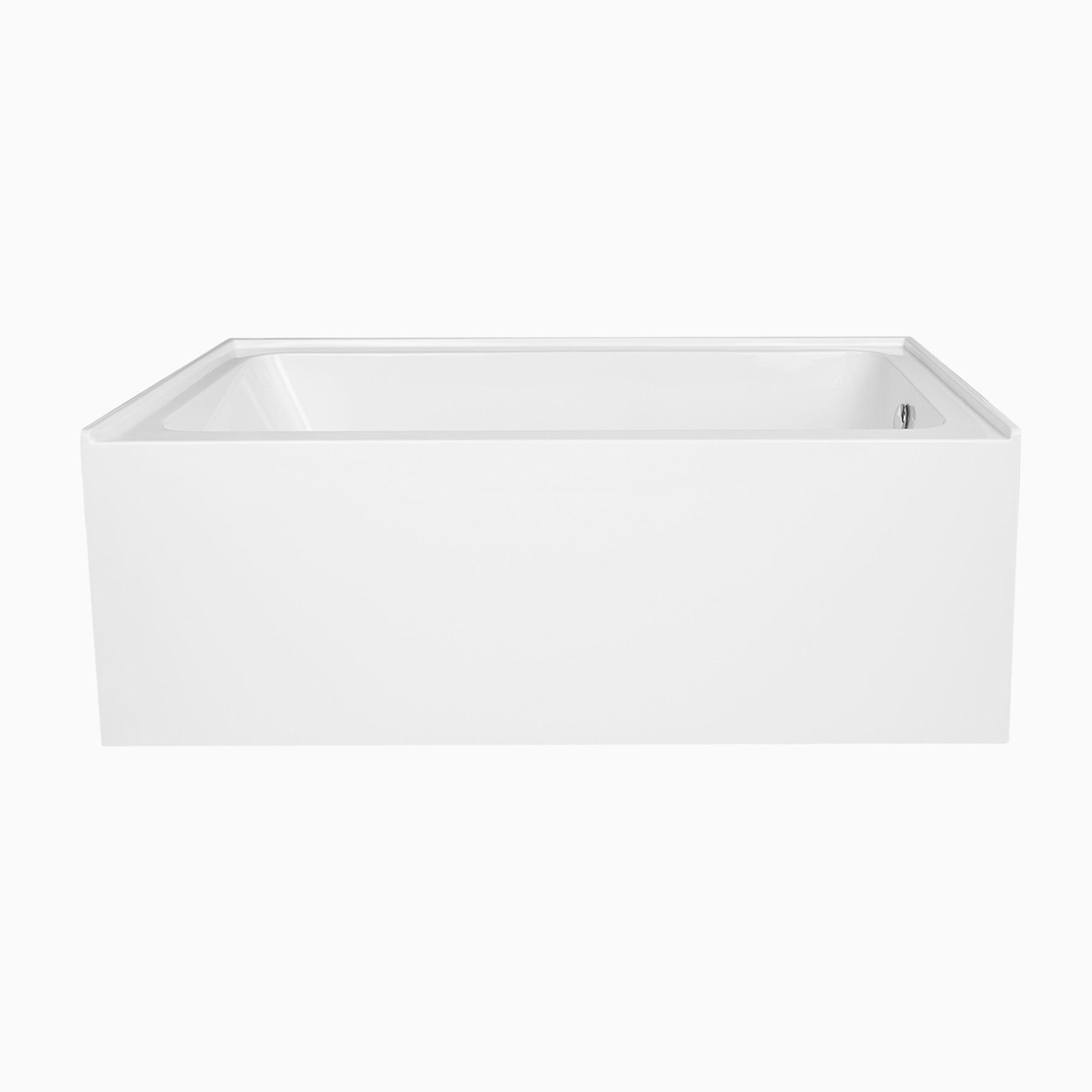 60 Pensacola Acrylic Alcove Bathtub Modern Rectangle Tub