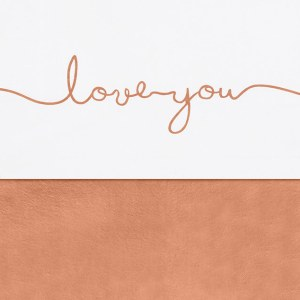 Jollein laken wieg 75x100cm - Love you - caramel