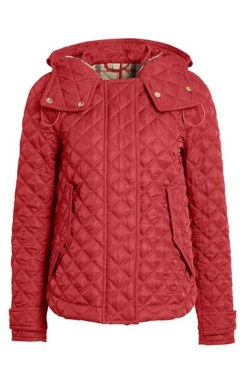 burberry brit quilted hooded jacket