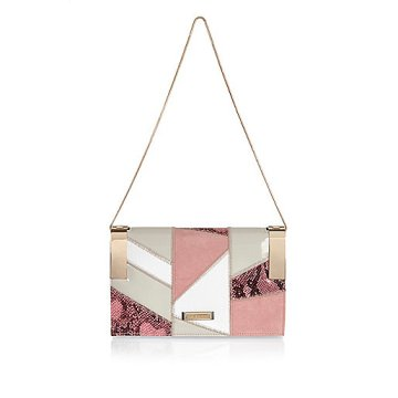 pink patchwork chain handbag.jpeg