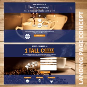 Seattle Coffee Landing Page Concepts
