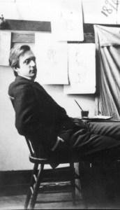Maynard Dixon c.1898 in studio