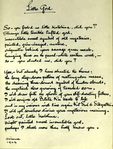 Maynard Dixon Poetry Letters Maynard Dixon Little God Arizona 1923