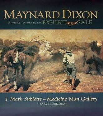 Maynard Dixon Books Posters Maynard Dixon Poster Roping the Palomino