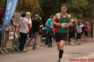 Neil Carroll on his way to 1:33 pb at Athlone Flatline Half. (Photo credit Andrew Egan)