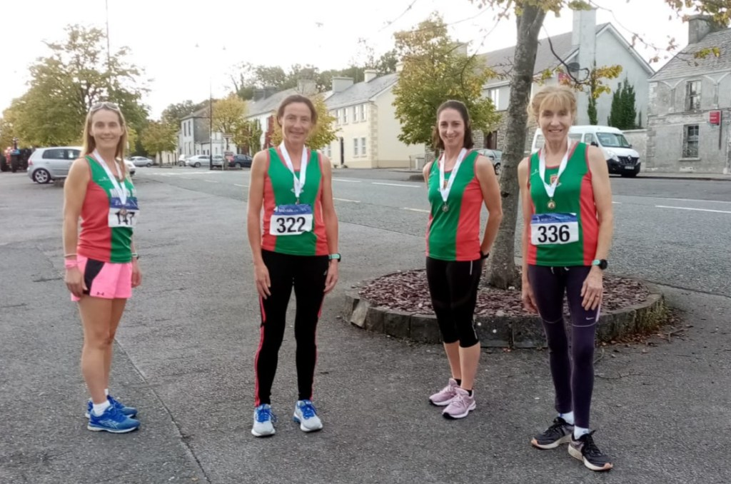Long trip to Santry but our medal winners went the distance: Paula, Colette, Norah and Pauline