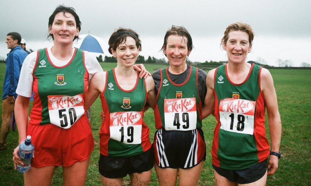 Josephine, Noreen, Angela, Ann  @ Connacht XC Loughrea 21.01.'08