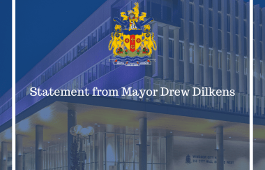 Statement by Windsor Mayor Drew Dilkens: Provincial Re-opening Plans