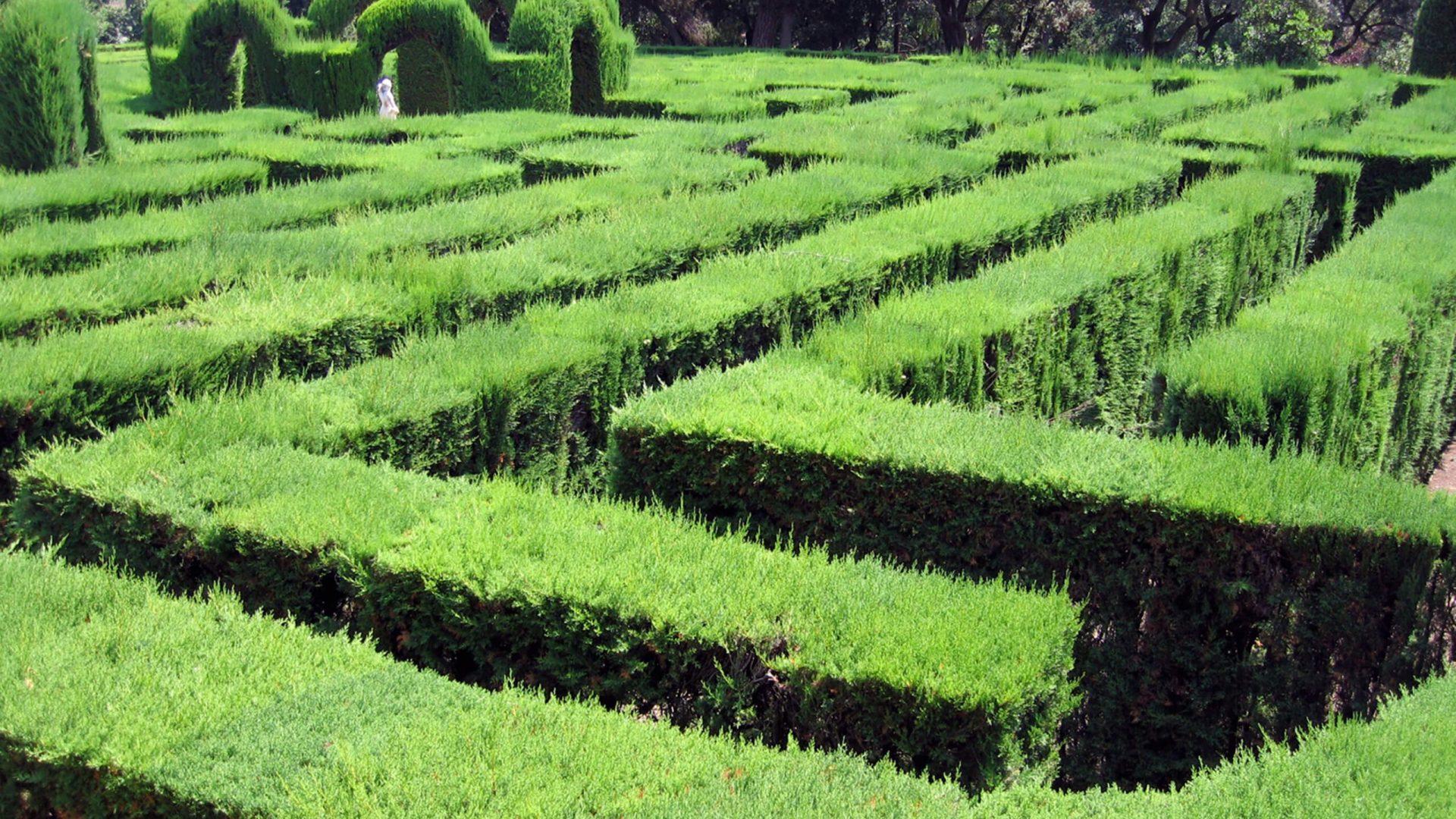 Laberinto en los jardines de Horta