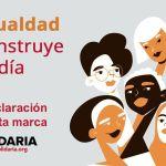 Quien marca la X Solidaria impulsa la igualdad de género