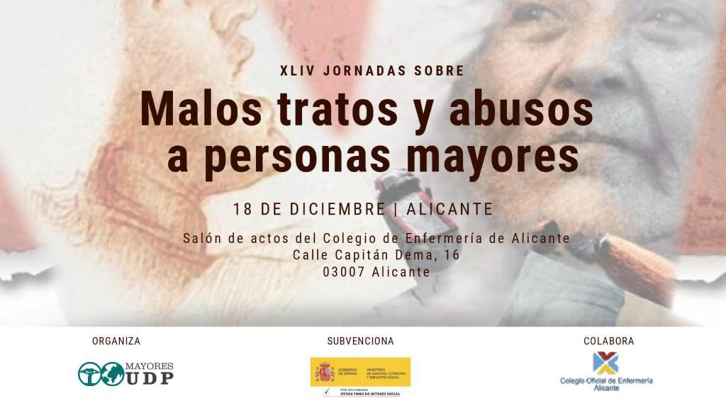 Jornadas sobre malos tratos a personas mayores en ALICANTE MAYORESUD