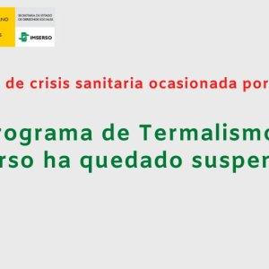 El Imserso suspende también el programa Termalismo Social