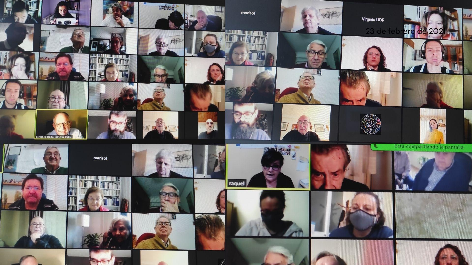 Fotografía personas participantes encuentro virtual UDP