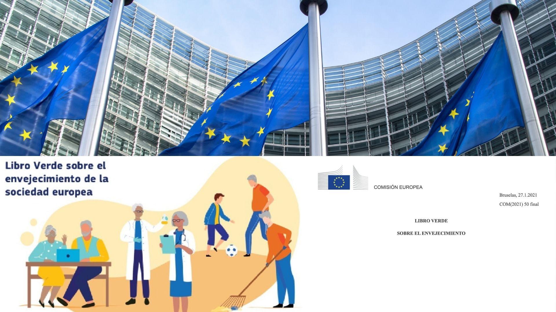 En imagen el edificio del Parlamento Europeo, junto a la bandera de la Unión Europea