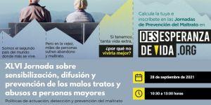 Apúntate a la XLVI Jornada sobre sensibilización y prevención de los malos tratos a personas mayores