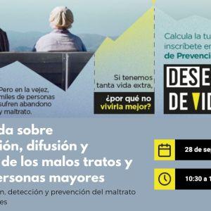 cartel XLVI Jornada de prevención maltrato a personas mayores