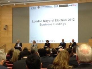 Mayoral hopefuls woo London's business community