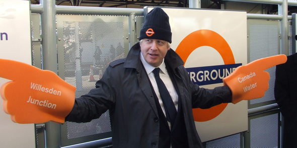 Boris opens new London Overground link