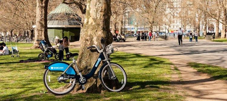 A discarded Boris Bike in Hyde Park. Barclays is quitting as sponsor three years earlier than previously announced.