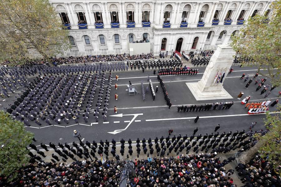National celebrations will include a wreath laying ceremony at the Cenotaph. Image: MOD
