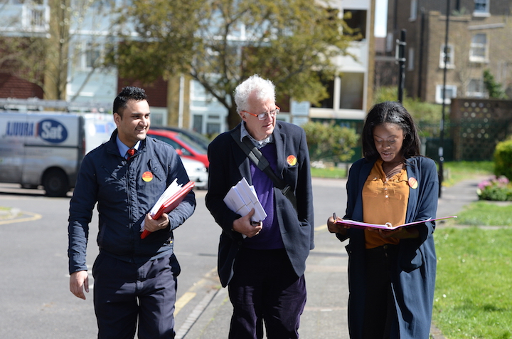 Christian Wolmar (centre) is campaigning to become Labour's 2016 Mayoral candidate.