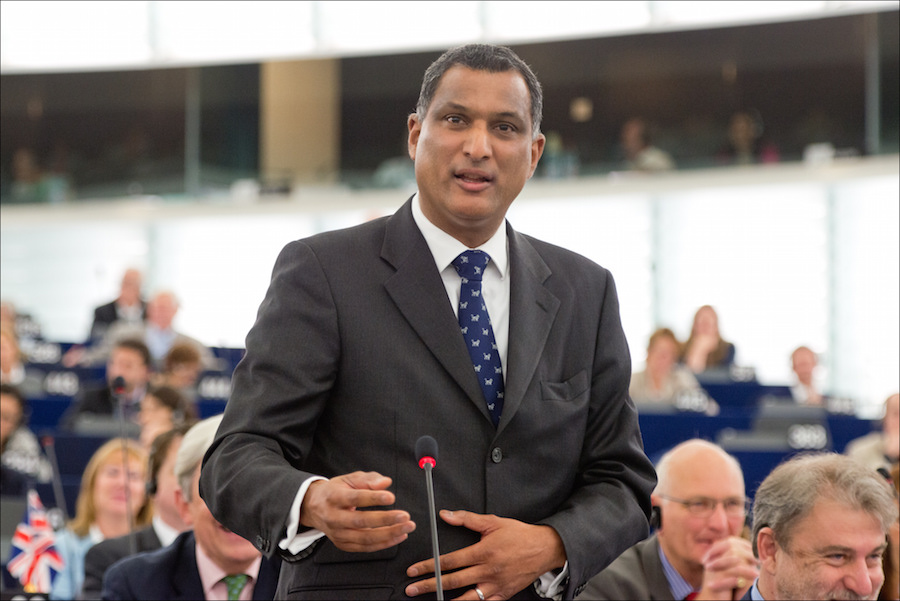Syed Kamall addressing the European Parliament . Image: © European Union 2014