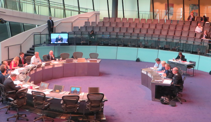 Members of the London Assembly's Police and Crime Committee question senior Met officers.