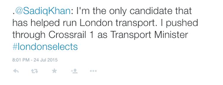 sadiq_crossrail_tweet