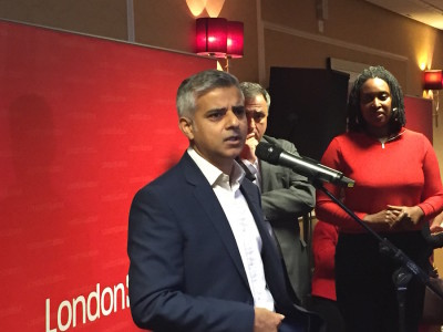 Mr Corbyn said a victory by Khan (pictured) would help Labour set an example to the whole UK.