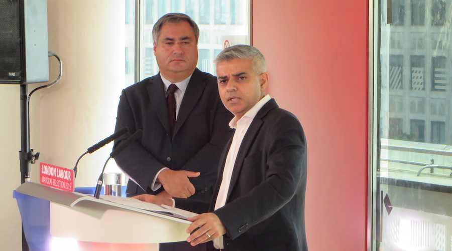 Sadiq Khan has a narrow lead over Zac Goldsmith.