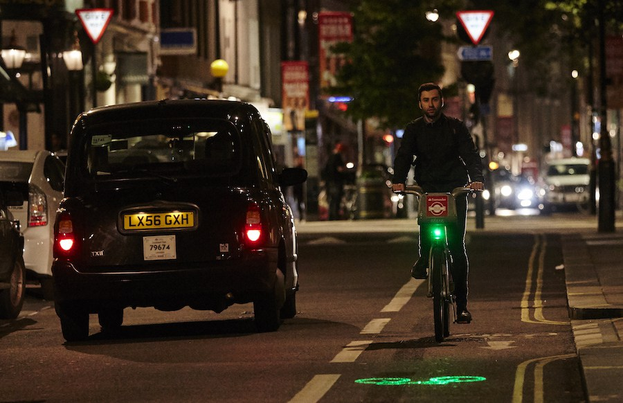 Santander pays to fit laser safety lights to London's hire bikes