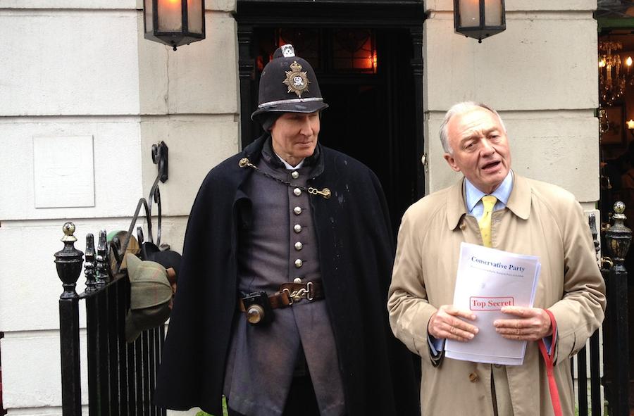 Former mayor Ken Livingstone campaigning in 2012.