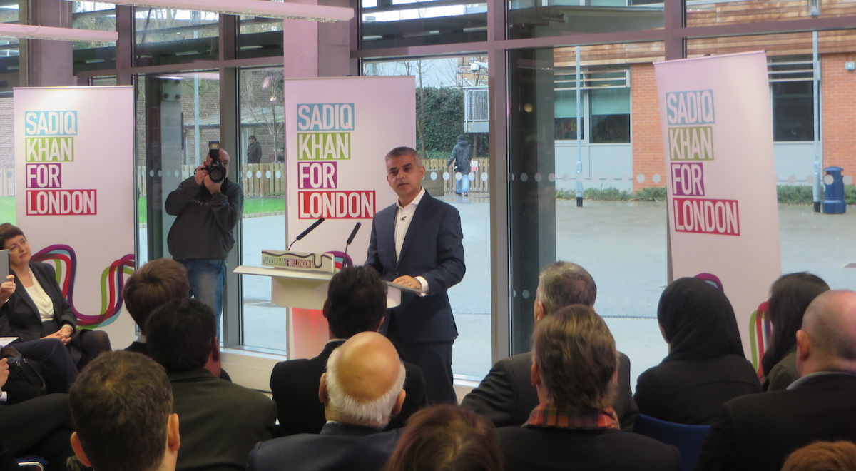 Shawcross watches on as Sadiq Khan unveils his vision for London