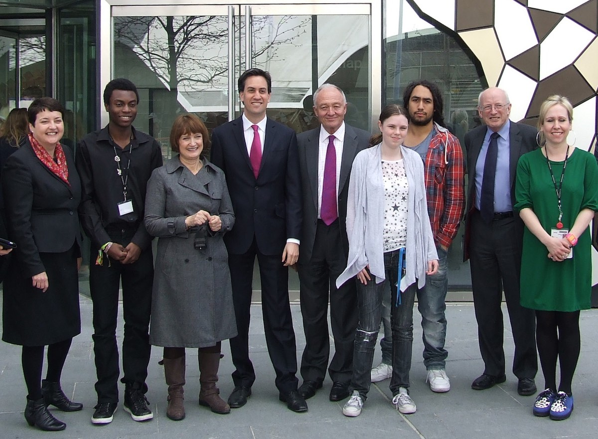 Shawcross (left) campaigning with Ken Livingstone, Tessa Jowell and Ed Miliband in 2012