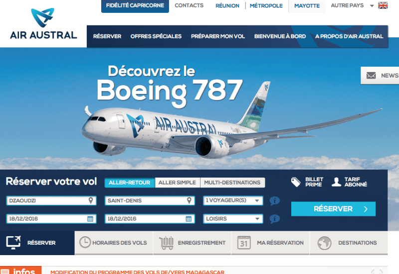 air-austral - Tourisme Mayotte