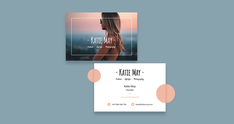 Fashion photography business card template may smith media katie may fashion photography business card template cheaphphosting Images