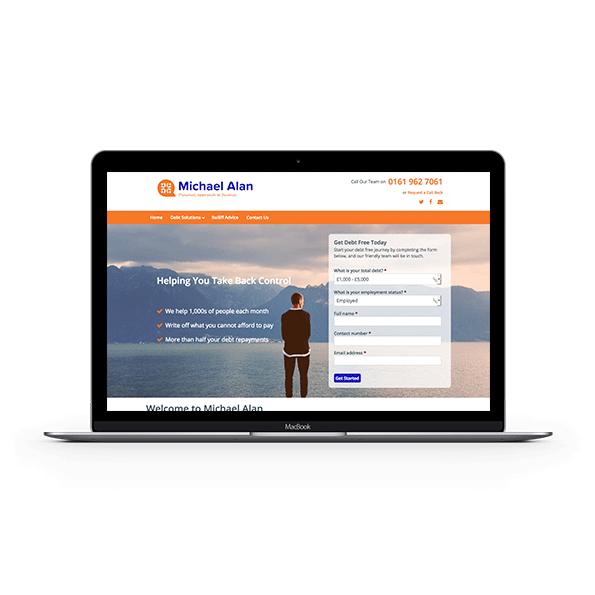 Michael Alan branding - website