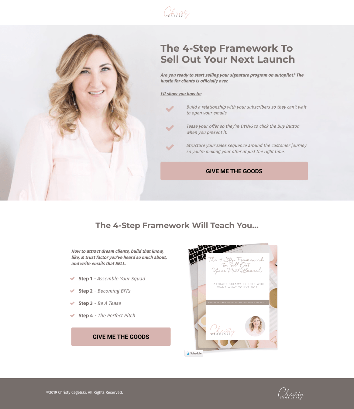 FireShot Capture 019 - The 4-Step Framework To Sell Out Your Next Launch - christycegelski.lpages.co