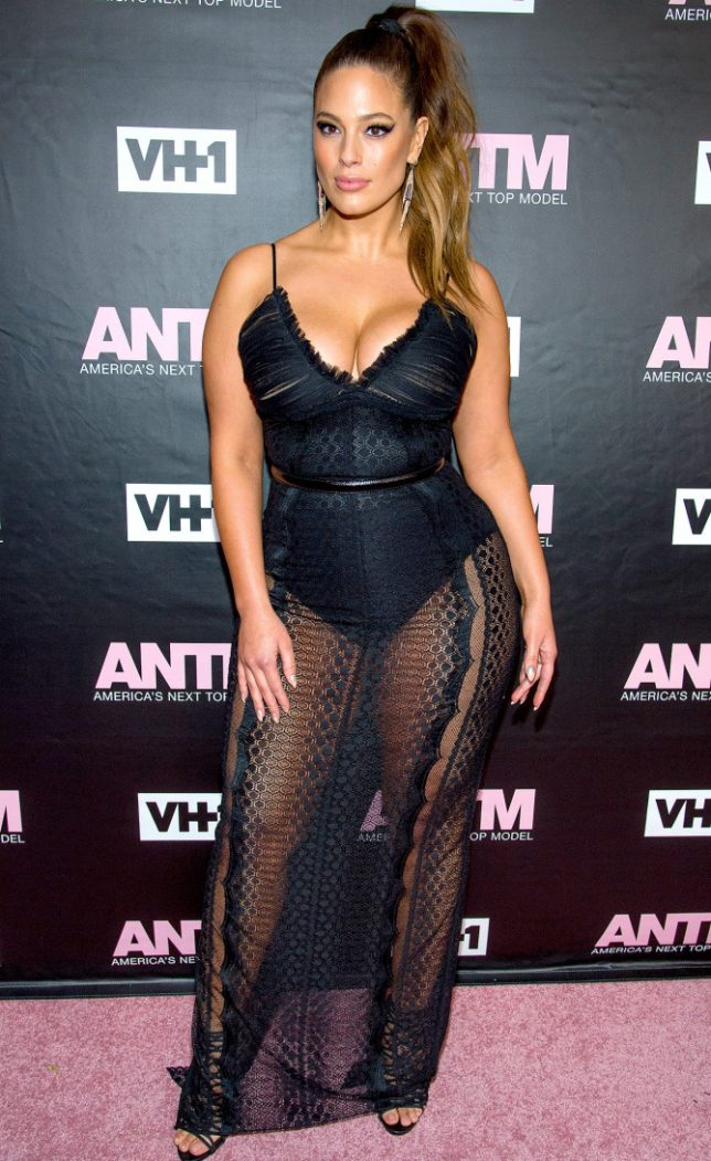 "NEW YORK, NY - DECEMBER 08: Model and ANTM Judge, Ashley Graham attends VH1's ""America's Next Top Model"" Premiere at Vandal on December 8, 2016 in New York City. (Photo by Roy Rochlin/FilmMagic)"