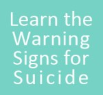 suicide warning signs button